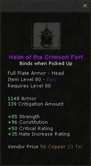 Helm of the crimson fort