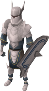 White armour set (lg) equipped