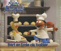 Bert en Ernie als bakker