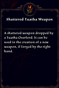 Shattered tuatha weapon