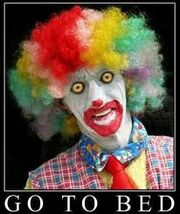 Go to bed clown as