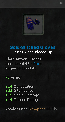 Gold-Stitched Gloves