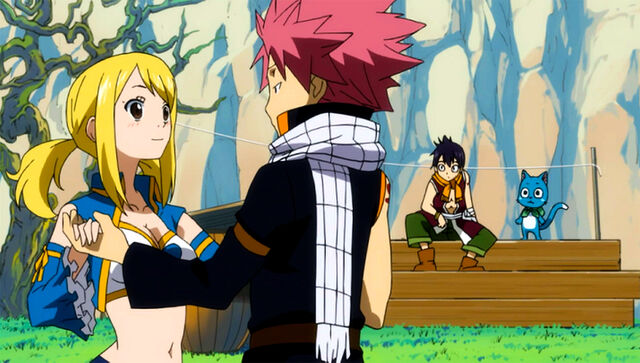 Lucy Teaches Natsu How To Dance by Roztanczona-Kamaria on ... |Lucy And Natsu Dance
