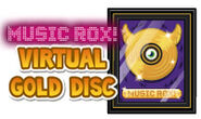 Music rox gold disc
