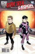 Star Trek - Legion of Super-Heroes issue 2 cover RI