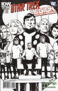 Star Trek - Legion of Super-Heroes issue 1 cover Hastings