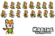 Marine The Raccoon Sprite