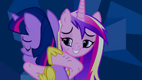 Princess Cadance hugging Twilight S2E26