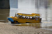 Duck Tour boat beaching