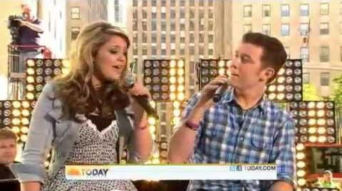 Scotty McCreery and Lauren Alaina - I Told You So - Today Show 06- 02 -11