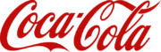 "Script ""Coca-Cola"" with the first ""C"" underlining the ""oca"" and the last ""C"" looping over the ""ola"" and through the loop of the ""l""."