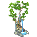 Dec growing tree icon