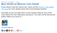 More Details on Mystery Train Island