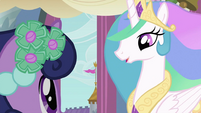 Celestia talking to Twilight S2E26