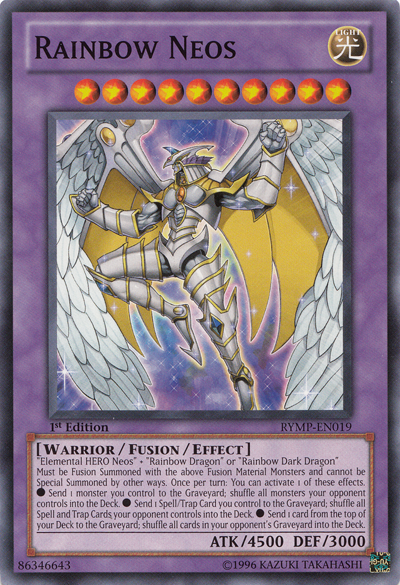 rainbow neos  yugioh  it's time to duel
