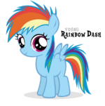 Rainbow Dash Filly by Blackm3sh