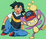 Ash and Aipom DP