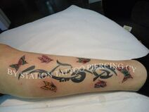 Tattoo tribaland butterflies