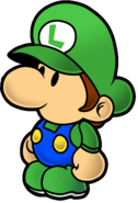 Paper Baby Luigi