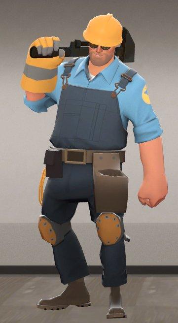engineer team fortress 2 blue minecraft skin