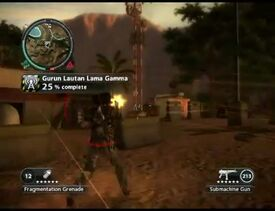 Just Cause 2 - Gurun Lautan Lama Gamma - communication outpost 08