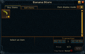 Banana Store stock