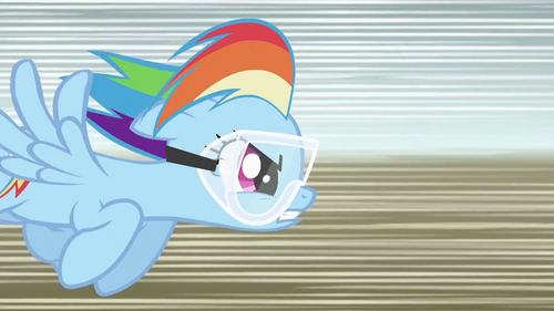 Image - Rainbow Dash flying fast S2E03.png - My Little ...