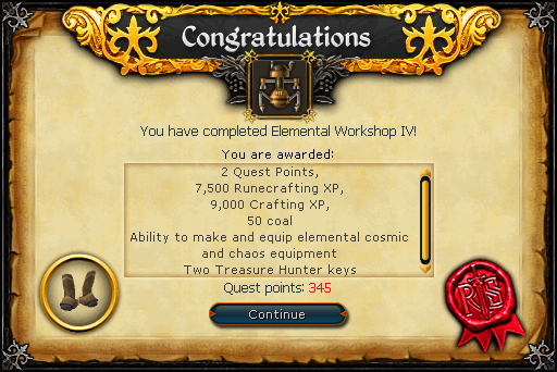 Elemental Workshop 4 rewards