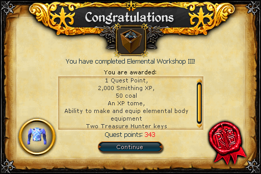 Elemental Workshop III rewards