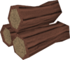 Red mahogany logs detail