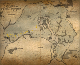 Map of cyrodiil Gold Road