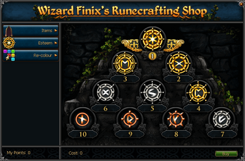 Wizard Finix's Runecrafting Shop (Esteem)