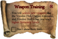 Scroll WeaponTraining
