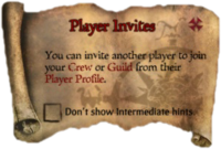 Scroll PlayerInvites