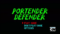 S4 E8 Portender Defender start screen