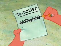 Patrick Star To Do List