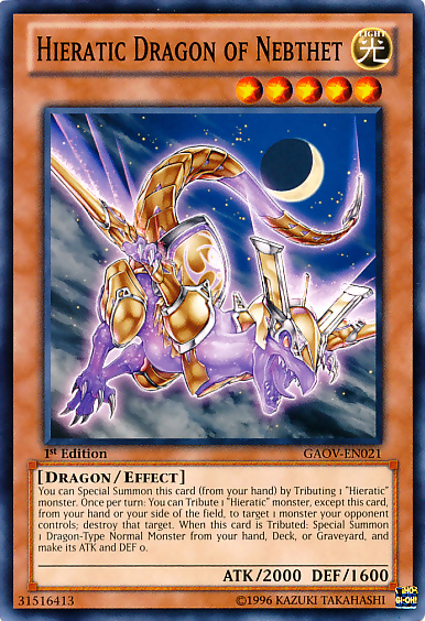 Shining the road to glory, join the Hieratic Dragons! HieraticDragonofNebthet-GAOV-EN-C-1E