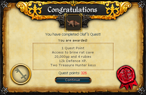 Olaf&#39;s Quest reward