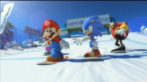 Mario And Sonic At The Olympic Winter Games (VG) (2009) - Cinematic trailer featuring two of gaming's favorite characters