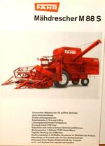 Fahr M 88 S combine brochure