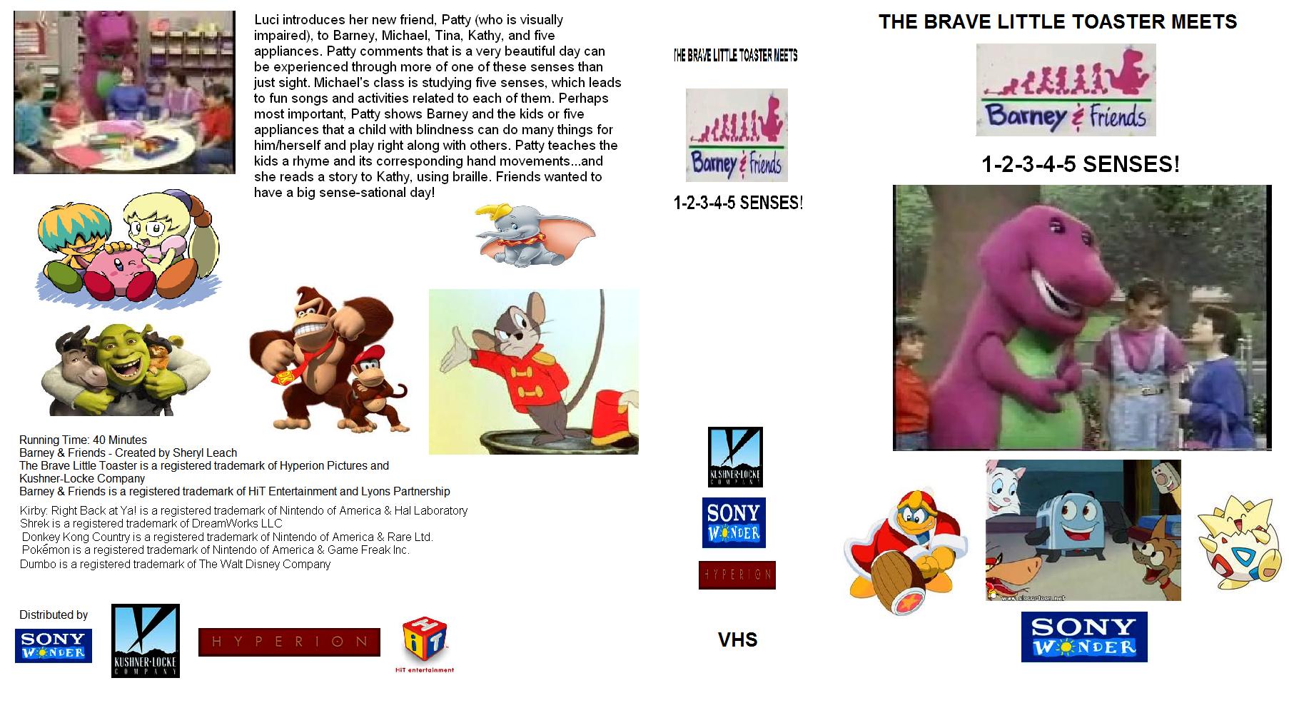 The brave little toaster meets barney amp friends 1 2 3 4 5 senses