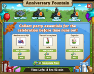 Anniversary Fountain Stage 1