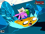 Finn in Jake raft