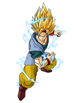 317px-Goku Jr Adult Super Saiyan 2 by SpongeBoss
