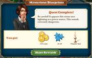 Quest Mysterious Blueprints-Rewards