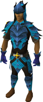 Full saradomin d&#39;hide equipped male