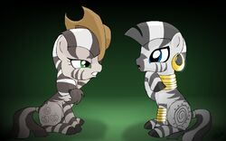 Zebrajack and Zecora by alfa995