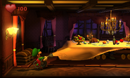 Sucking up a tablecloth - E3 2011 Trailer - Luigi's Mansion Dark Moon