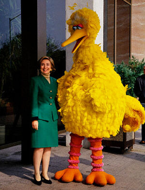 Hillary Clinton and Big Bird