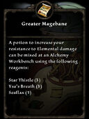 Greater Magebane Recipe Card